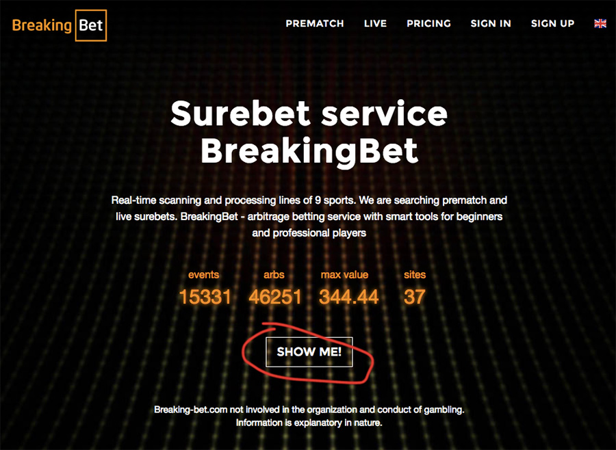 BreakingBet surebet finder