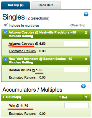 How to bet accumulator